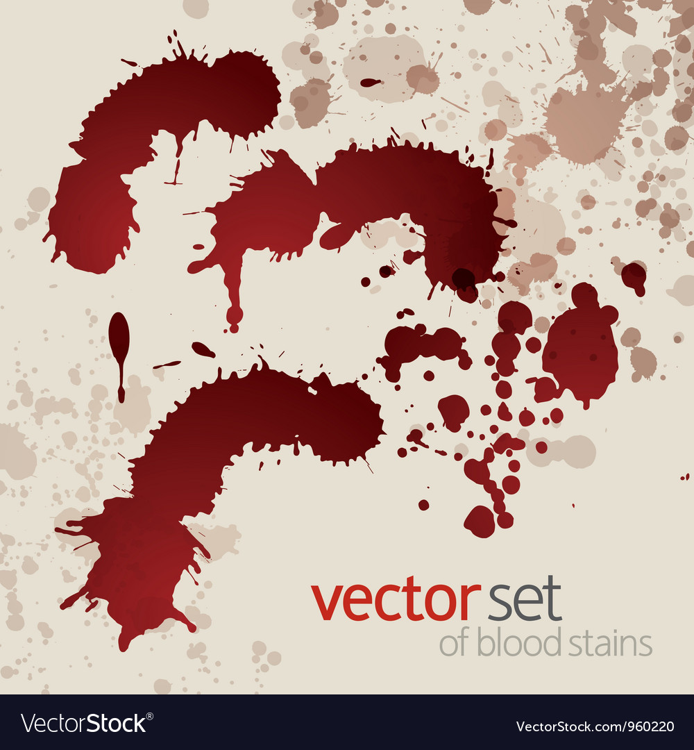 Splattered blood stains set 2 vector | Price: 1 Credit (USD $1)