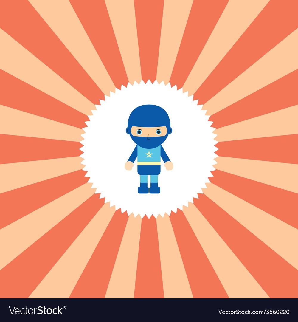 Superhero cartoon character vector | Price: 1 Credit (USD $1)