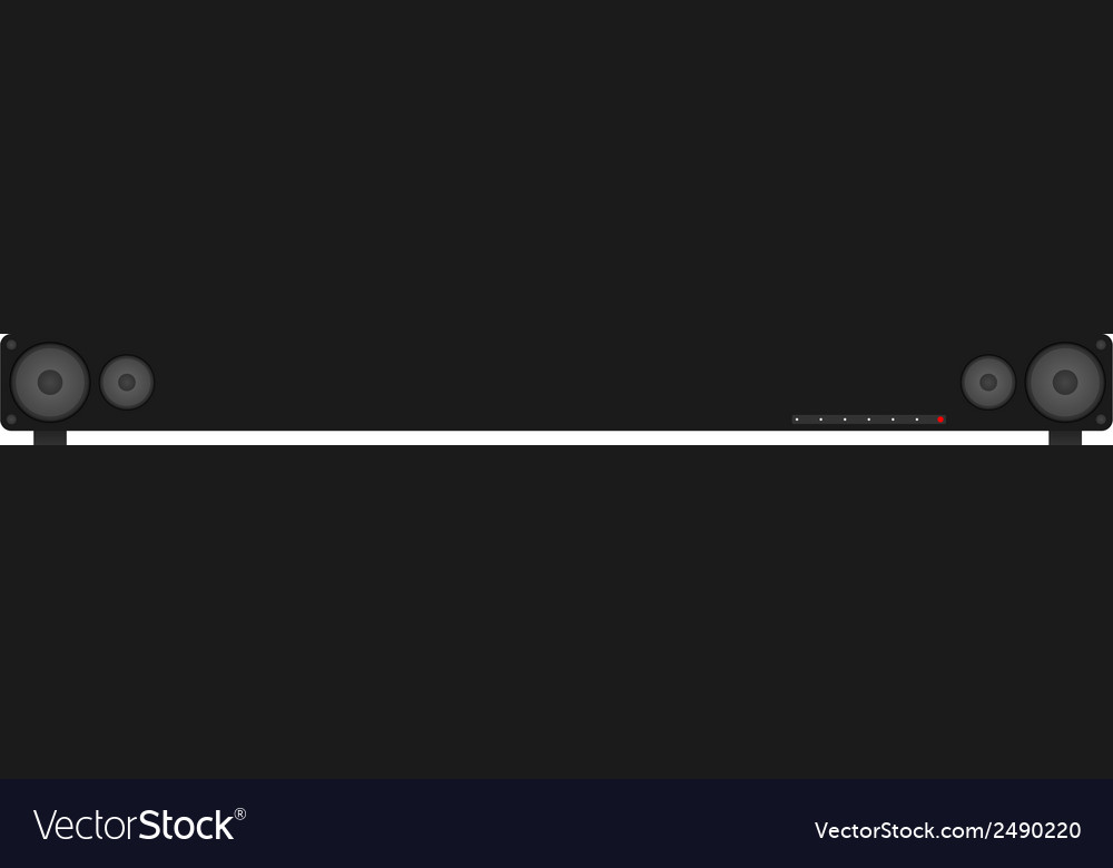 Surround sound - sound bar vector | Price: 1 Credit (USD $1)