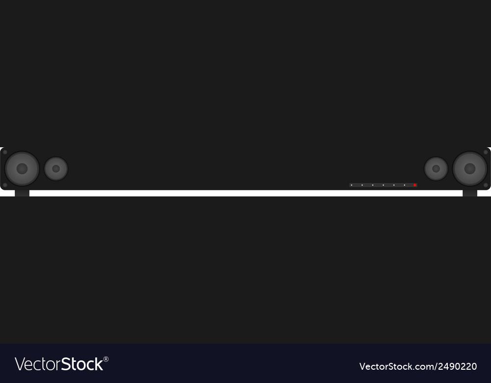 Surround sound - sound bar vector | Price: 1 Credit (USD $1)