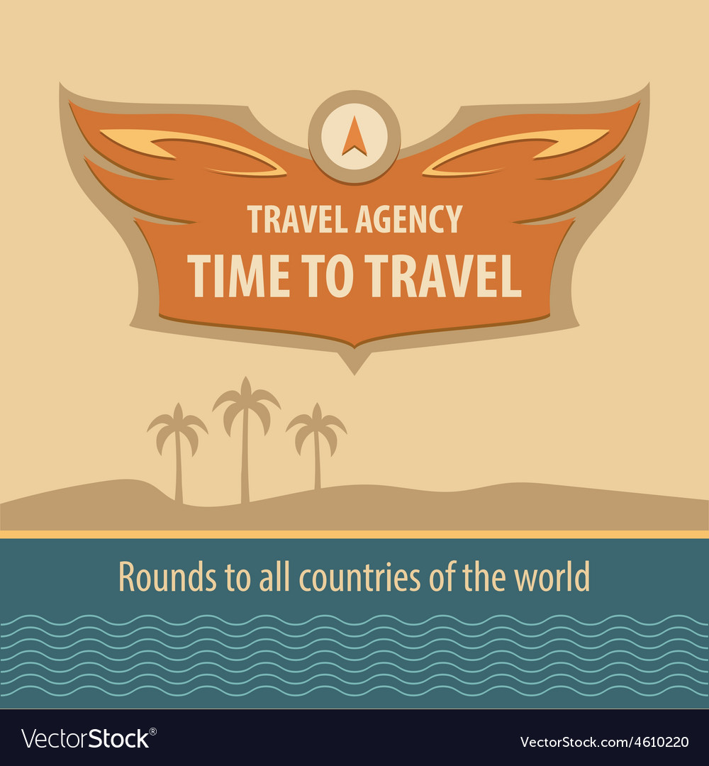 Travel agency logo vector | Price: 1 Credit (USD $1)