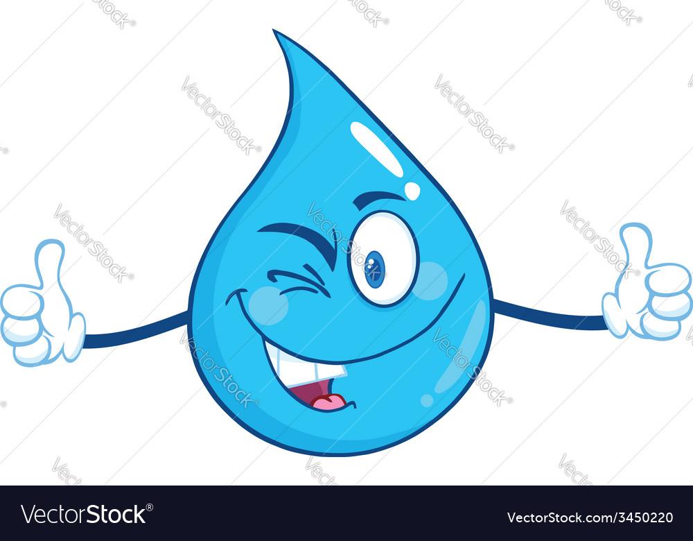 Waterdrop cartoon vector | Price: 1 Credit (USD $1)