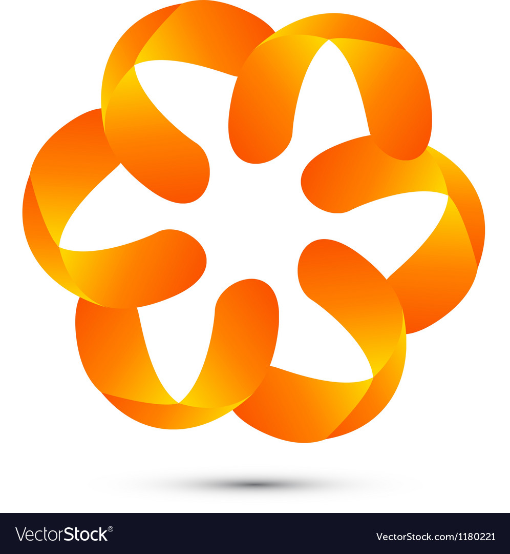 Abstract floral logo vector | Price: 1 Credit (USD $1)