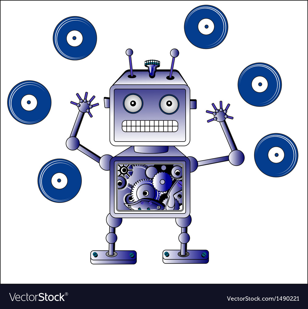 Blue robot vector | Price: 1 Credit (USD $1)
