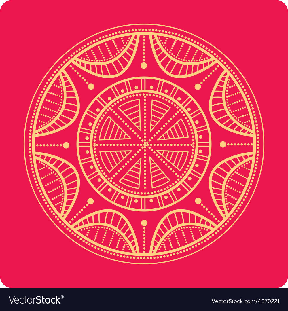 Celtic ornament on red vector | Price: 1 Credit (USD $1)