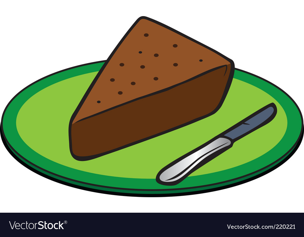 Chocolate cake slice vector | Price: 1 Credit (USD $1)
