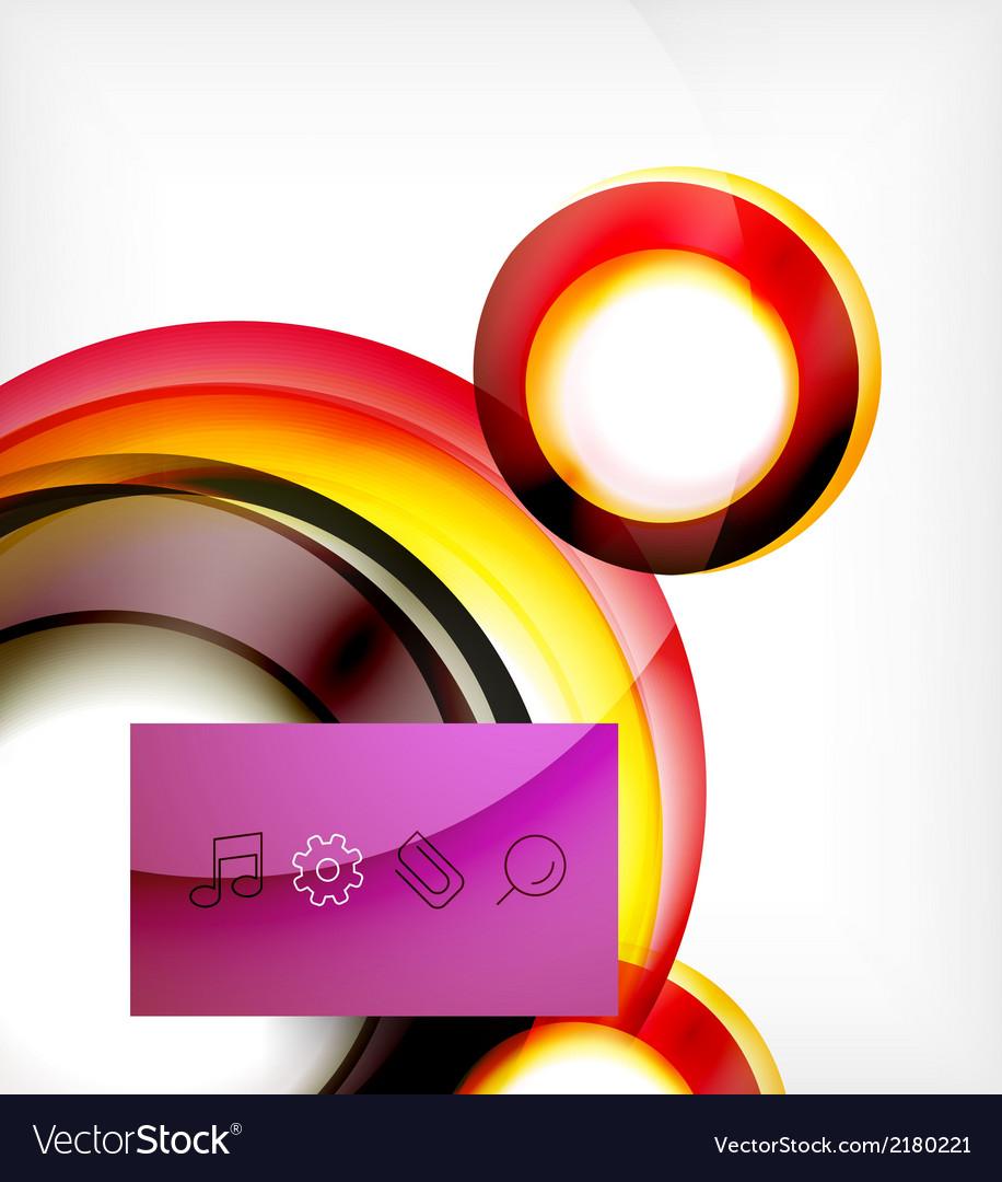 Colorful swirl motion design concept vector | Price: 1 Credit (USD $1)