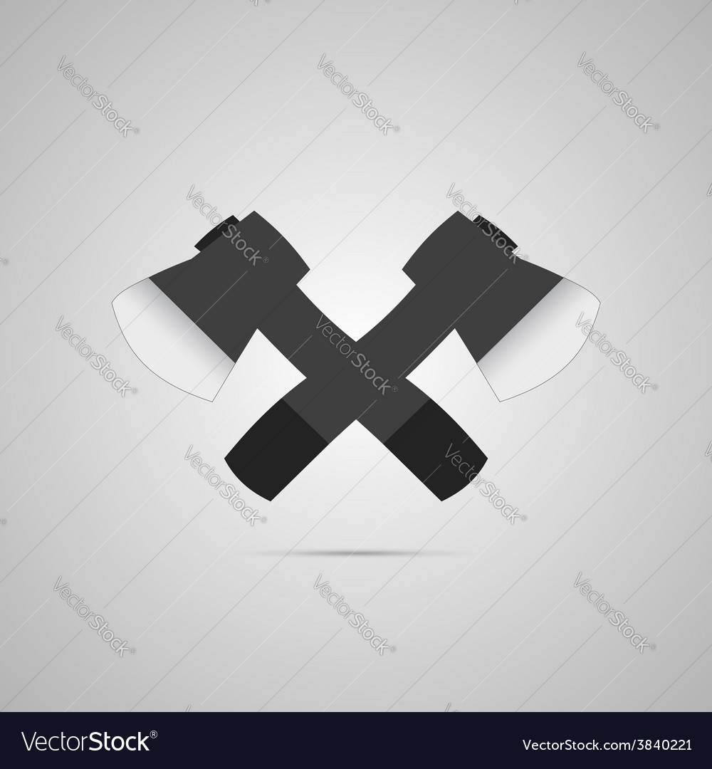 Crossed axes vector | Price: 1 Credit (USD $1)