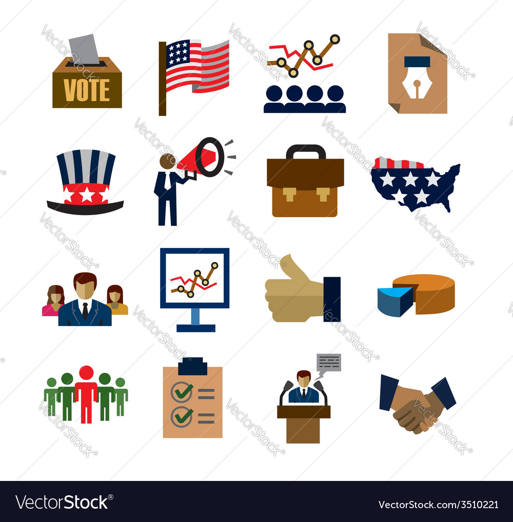 Election icons vector   Price: 1 Credit (USD $1)