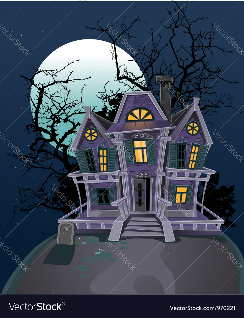 Halloween witch magic house vector | Price: 3 Credit (USD $3)