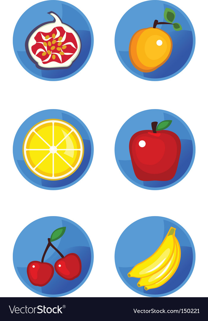 Icons fruits vector | Price: 1 Credit (USD $1)
