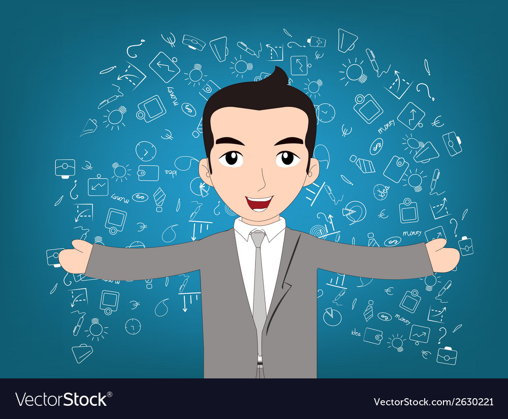 Man successful of business vector | Price: 1 Credit (USD $1)