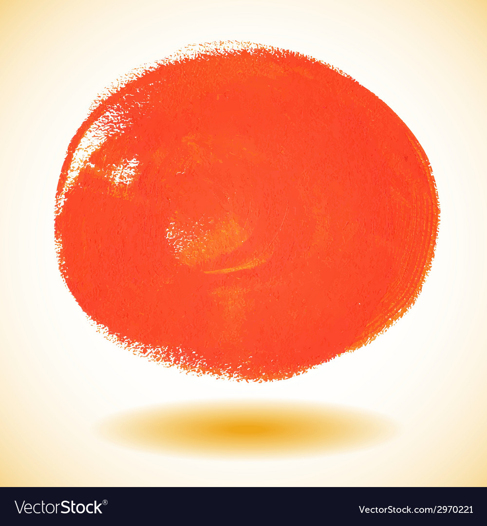Orange watercolor paint circle vector | Price: 1 Credit (USD $1)