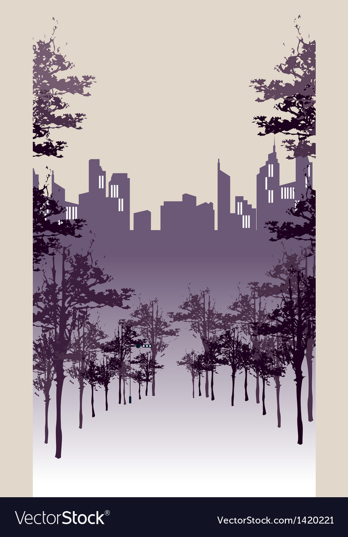 Park cityscape view vector | Price: 1 Credit (USD $1)
