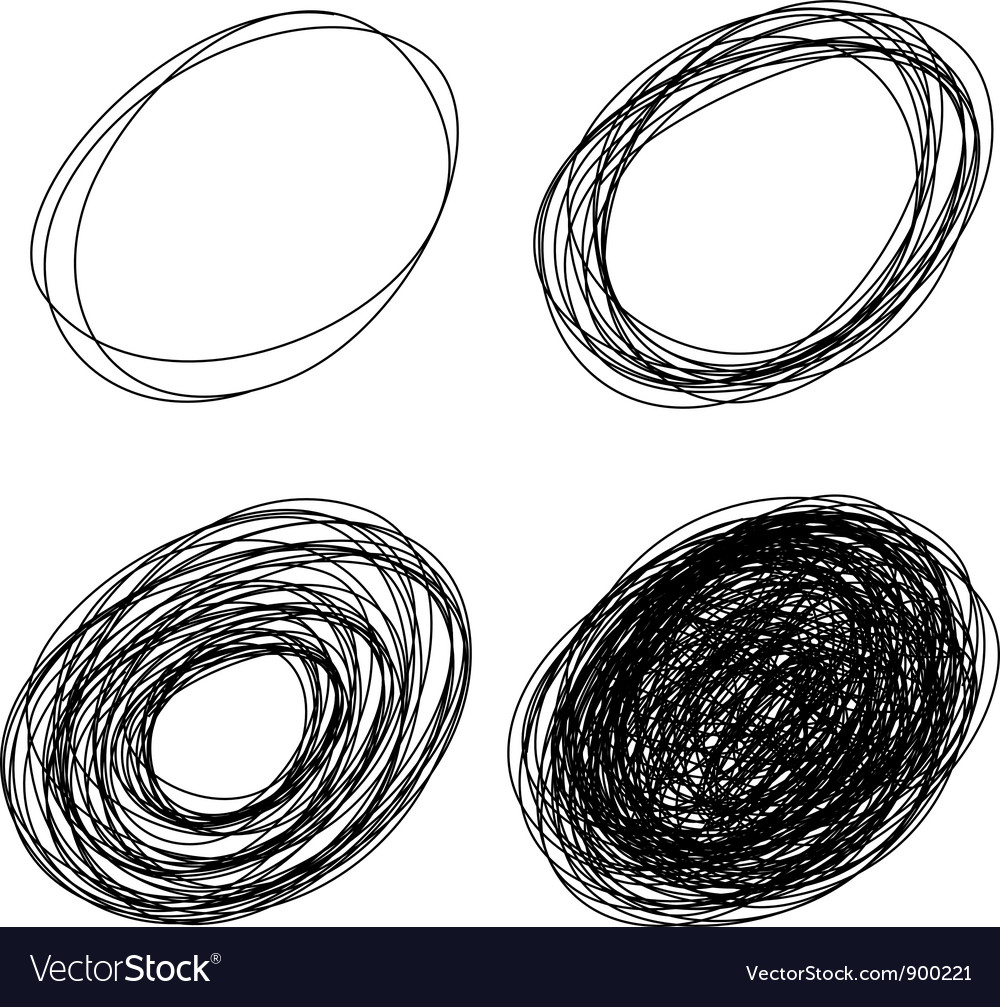 Pencil drawn ovals vector | Price: 1 Credit (USD $1)