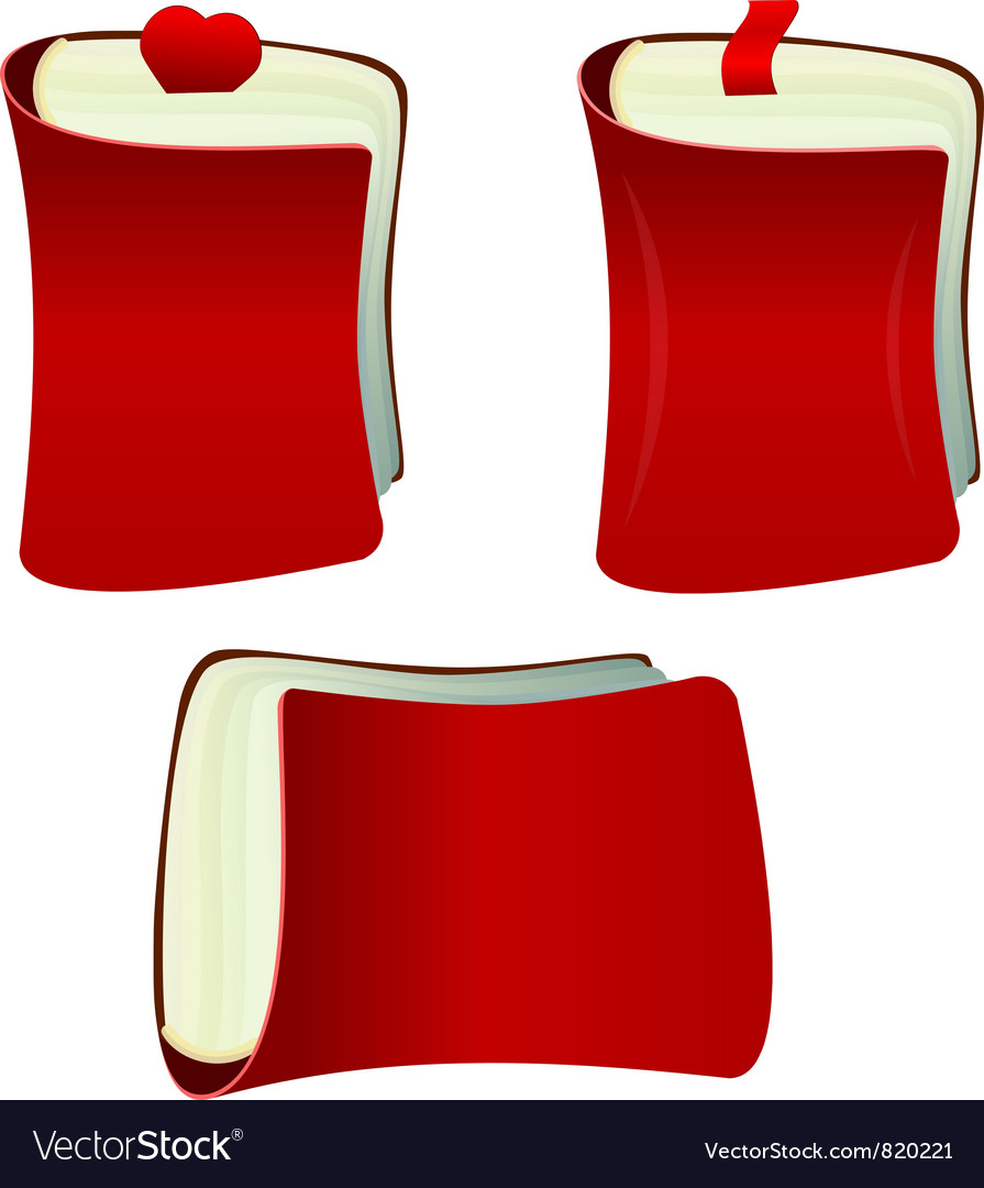 The red notebook with bookmark vector | Price: 1 Credit (USD $1)
