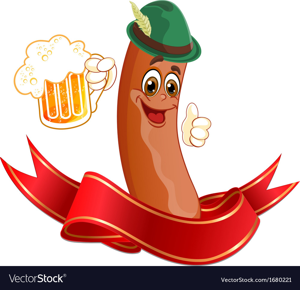 Sausage drinks beer vector | Price: 1 Credit (USD $1)