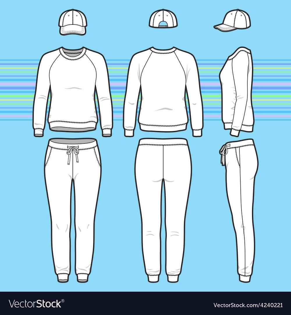 Sweatshirt cap and sweatpants set vector | Price: 1 Credit (USD $1)