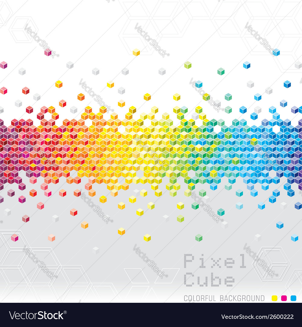 Abstract pixel background vector   Price: 1 Credit (USD $1)
