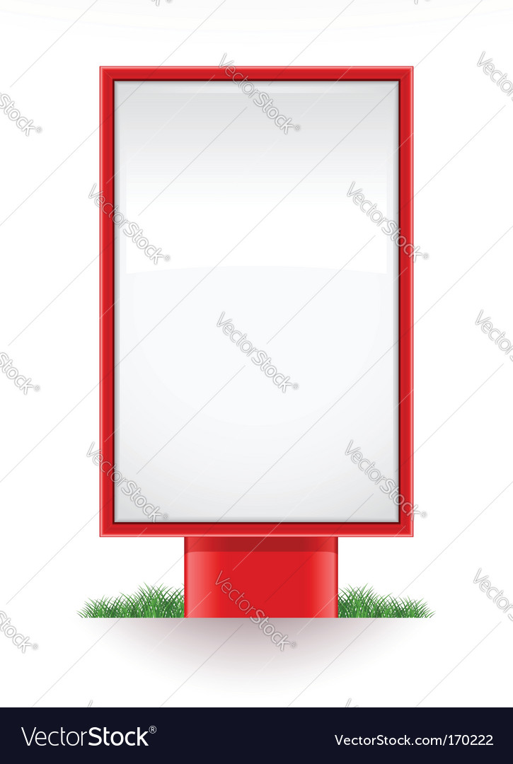 Blank advertising stand city light vector | Price: 1 Credit (USD $1)