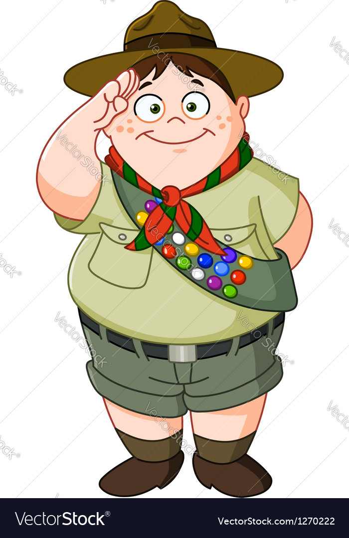 Boy scout vector | Price: 3 Credit (USD $3)