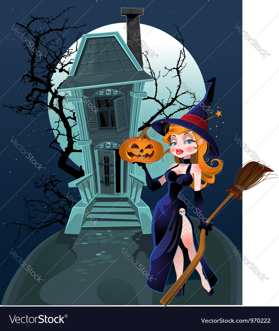 Halloween witch house vector | Price: 5 Credit (USD $5)