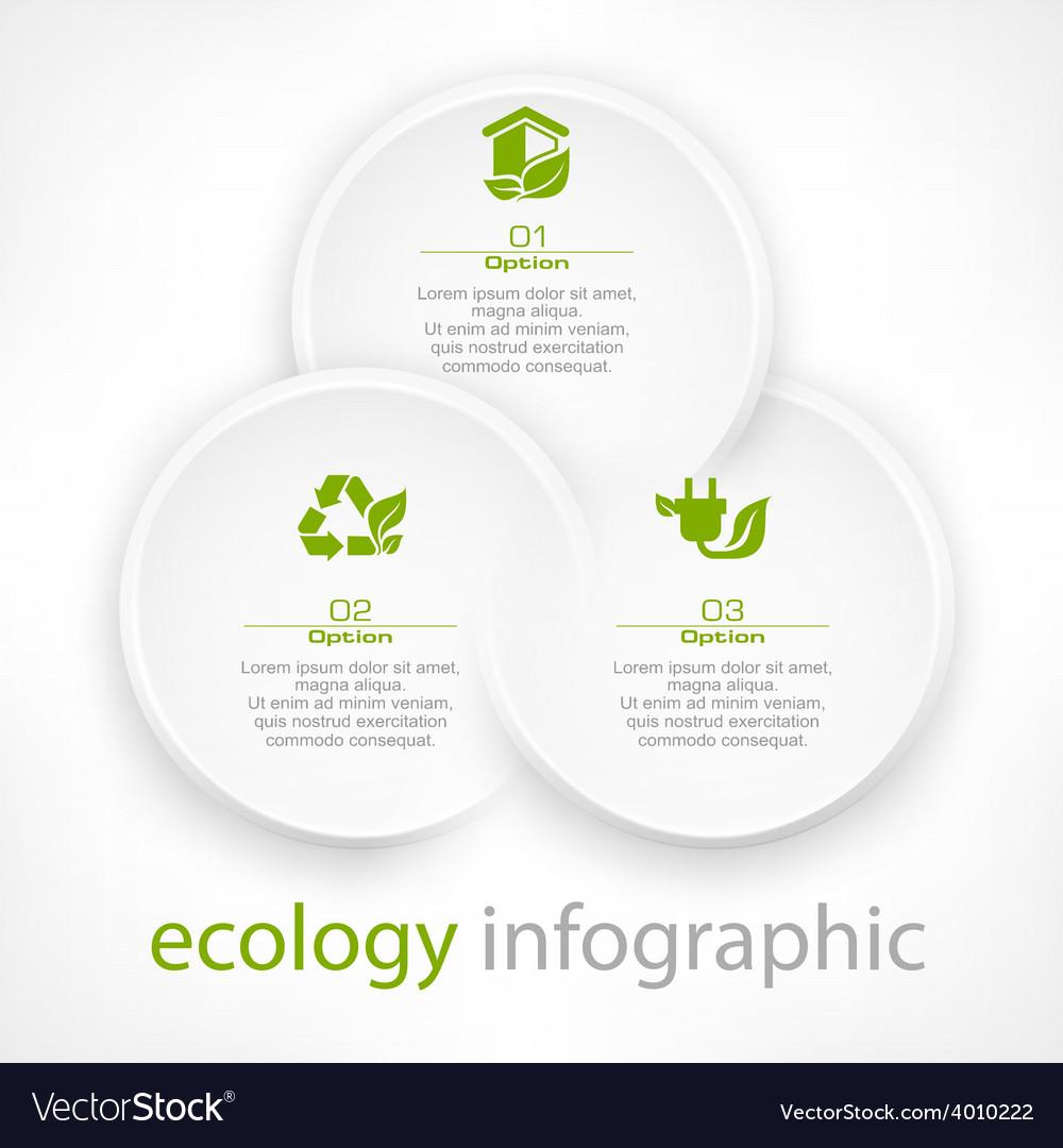 Infographic round elements vector