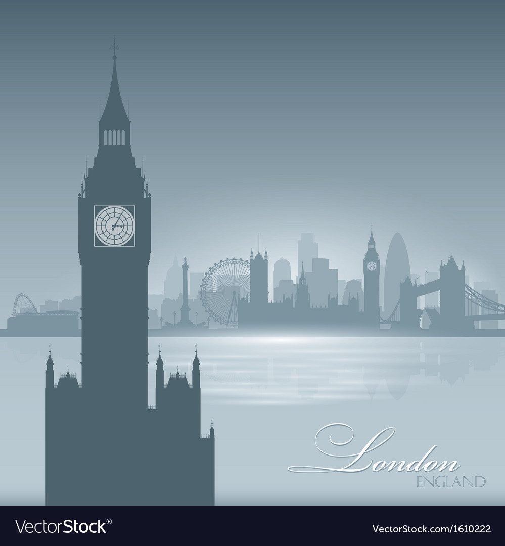 London england skyline city silhouette background vector | Price: 1 Credit (USD $1)