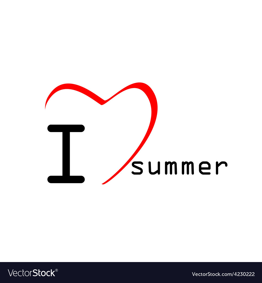 Love summer icon vector | Price: 1 Credit (USD $1)