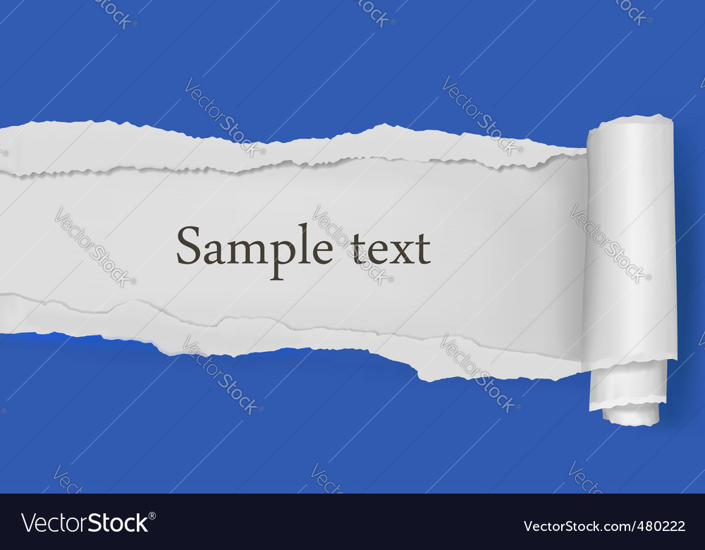 Ripped paper blue background vector | Price: 1 Credit (USD $1)