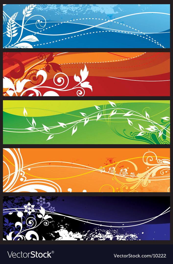 Seasons background vector | Price: 3 Credit (USD $3)