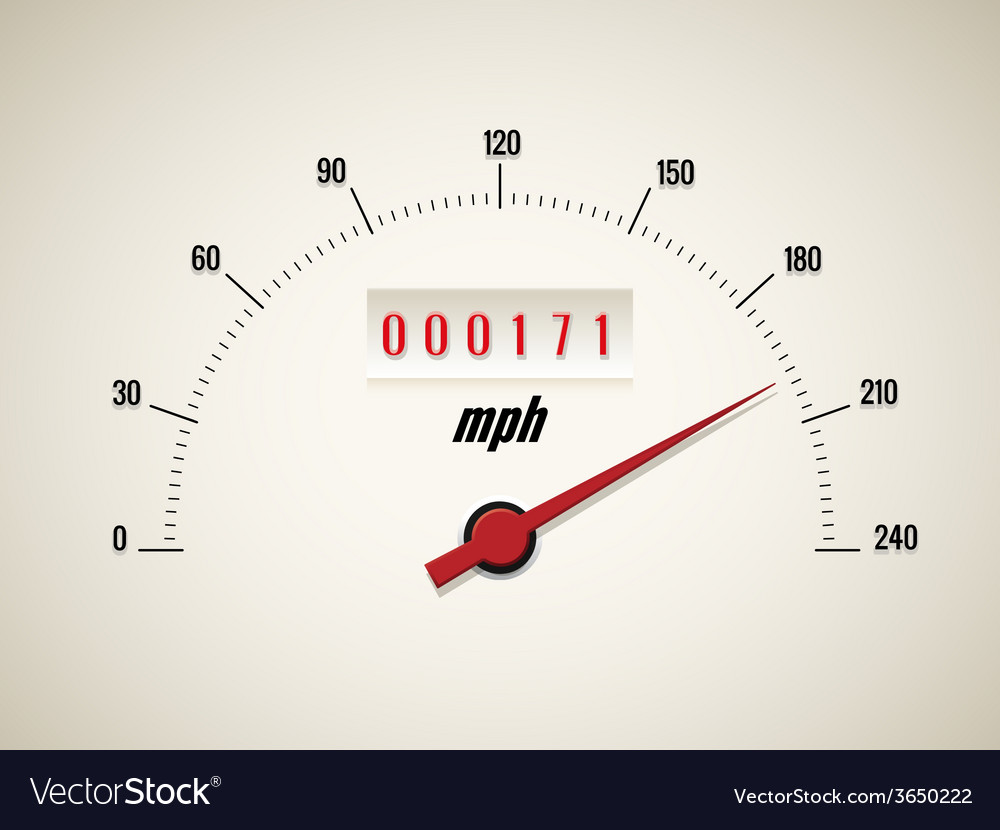Speedometer on white background vector