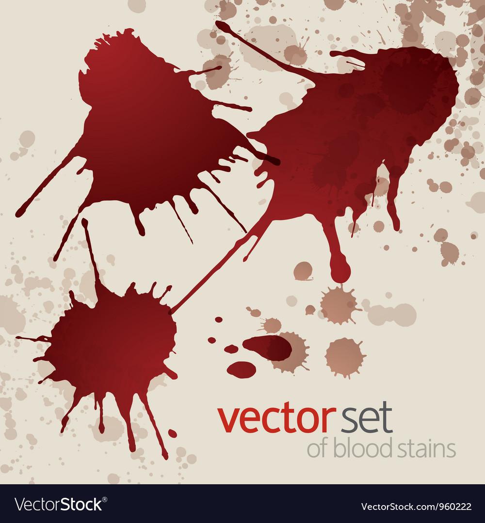 Splattered blood stains set 1 vector | Price: 1 Credit (USD $1)