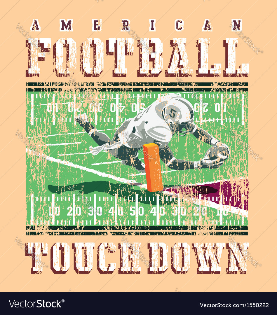 Touchdown football rules vector | Price: 3 Credit (USD $3)