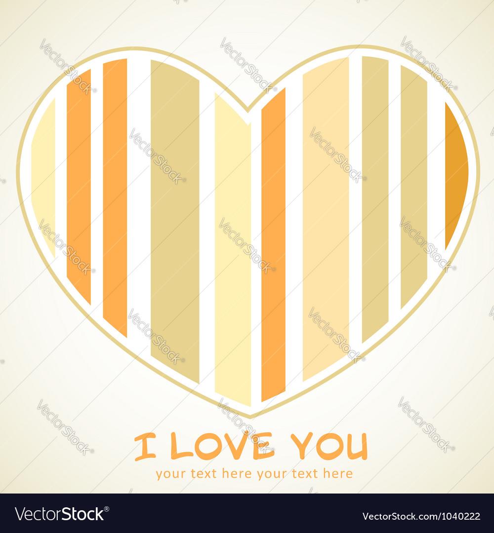 Valentines day heart retro invitation postcard vector   Price: 1 Credit (USD $1)