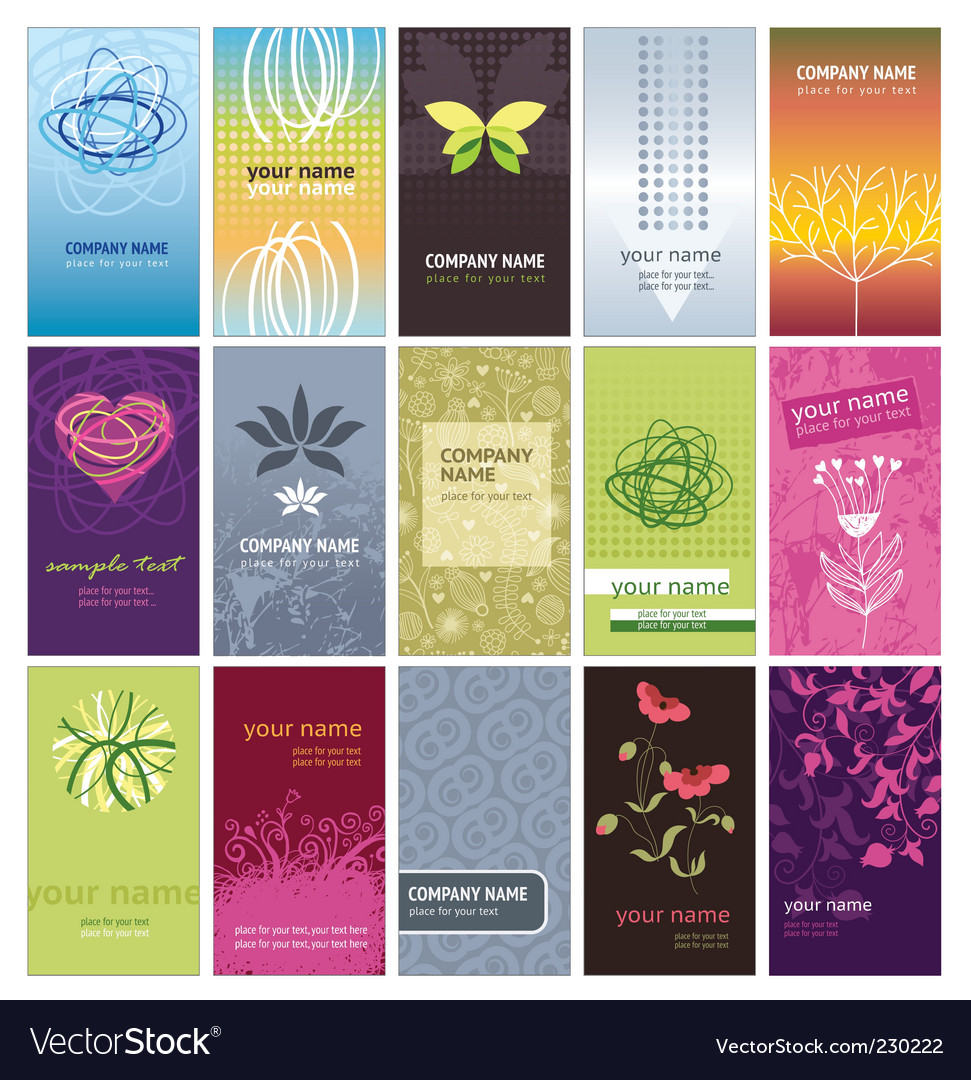 Vertical business cards vector | Price: 1 Credit (USD $1)