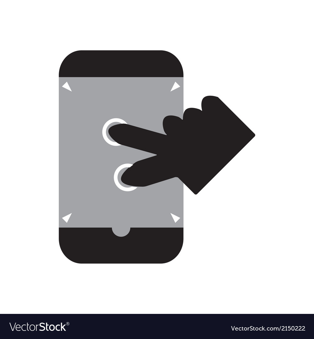 Zoom in smart phone vector | Price: 1 Credit (USD $1)