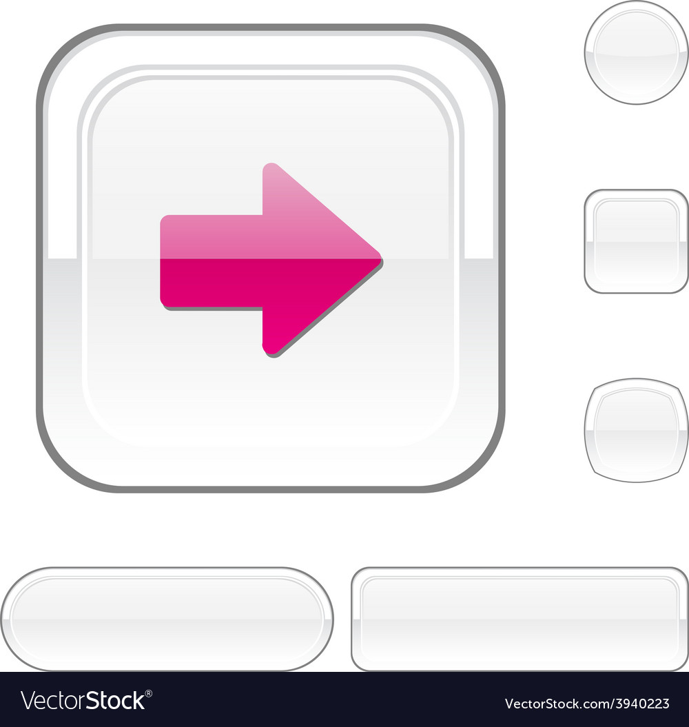 Arrow white button vector | Price: 1 Credit (USD $1)
