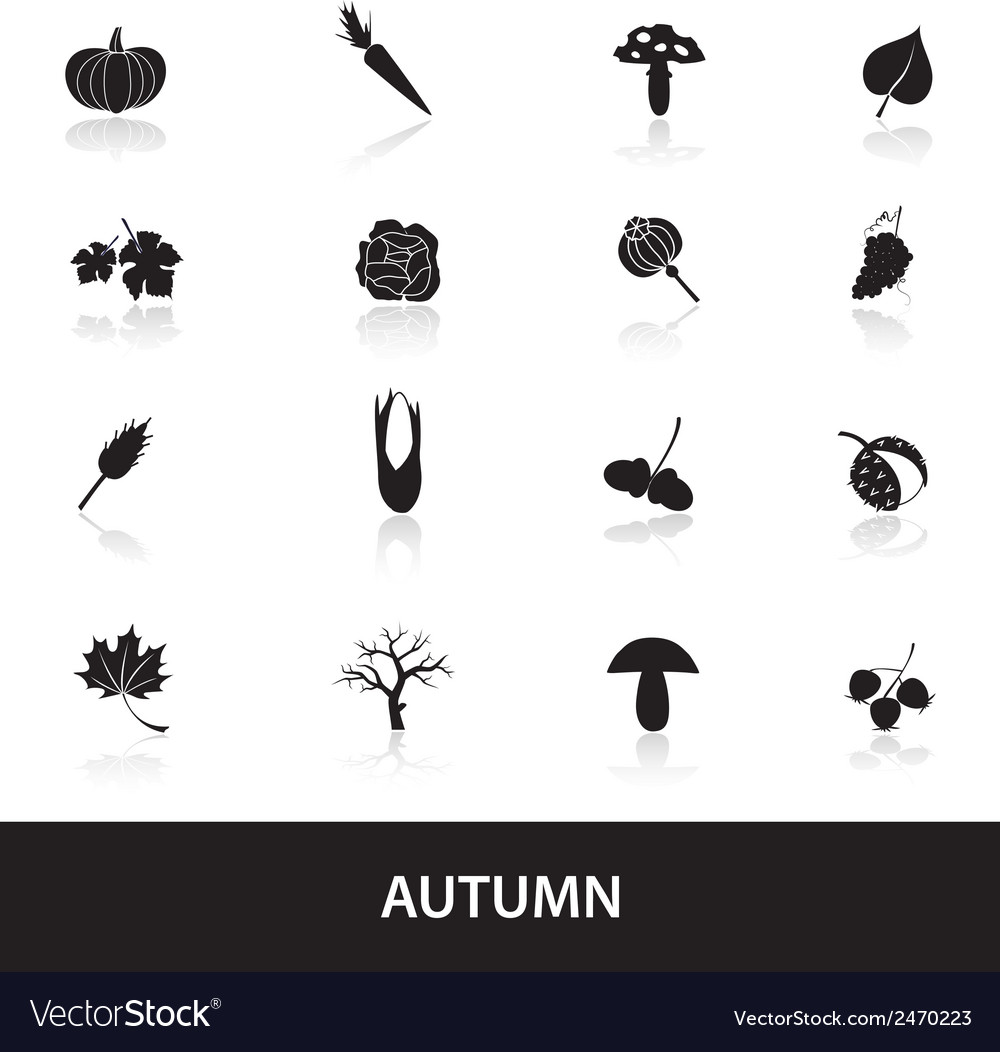 Autumn icons set eps10 vector | Price: 1 Credit (USD $1)
