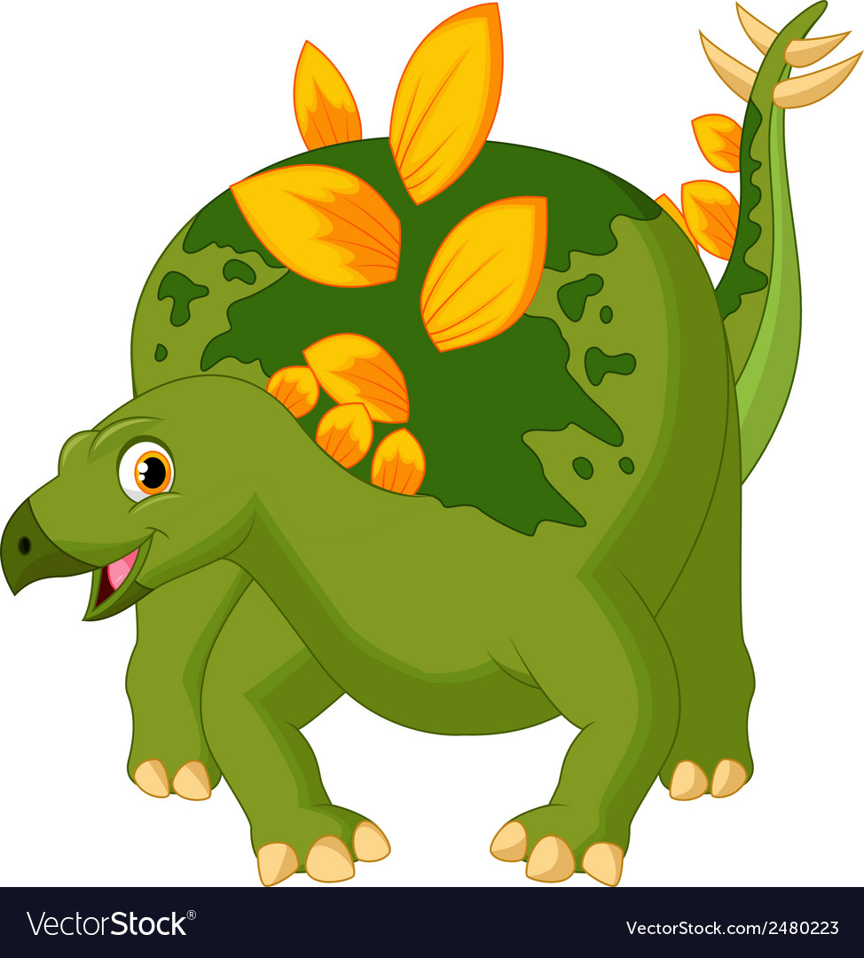 Cute dinosaur cartoon vector | Price: 1 Credit (USD $1)