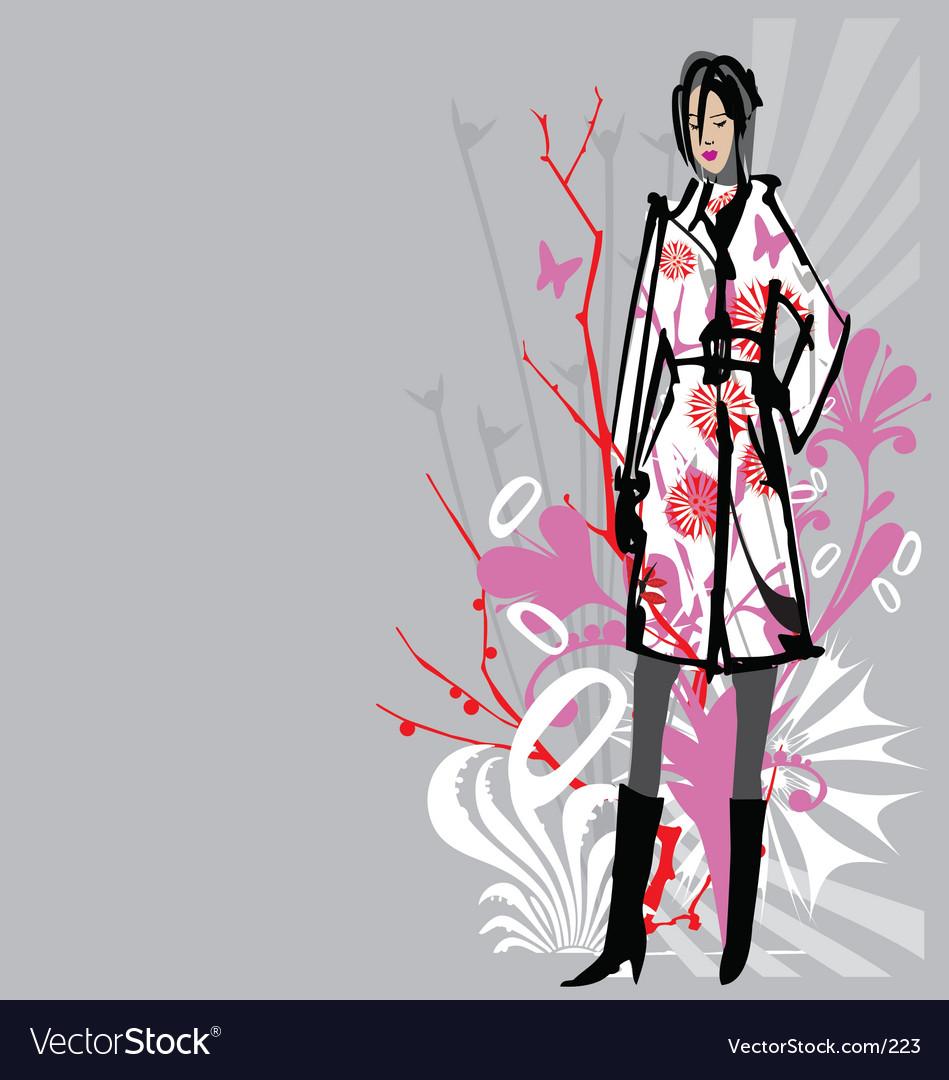 Fashion model illustration vector | Price: 1 Credit (USD $1)