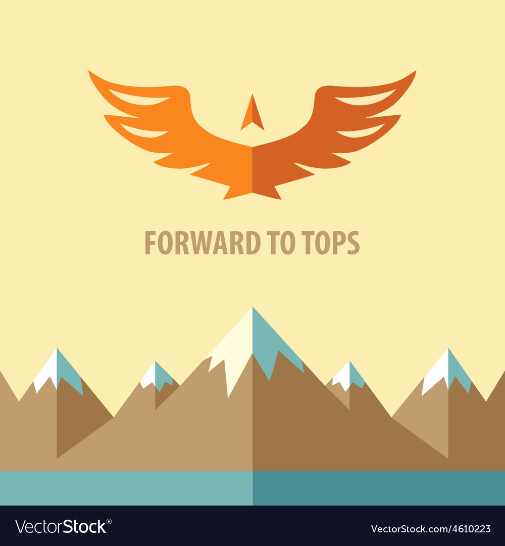 Forward to topstourism mountain climbing vector | Price: 1 Credit (USD $1)