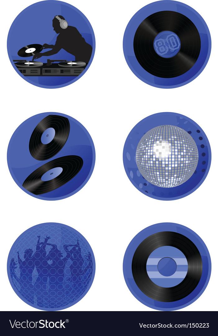 Icons disco vector | Price: 1 Credit (USD $1)