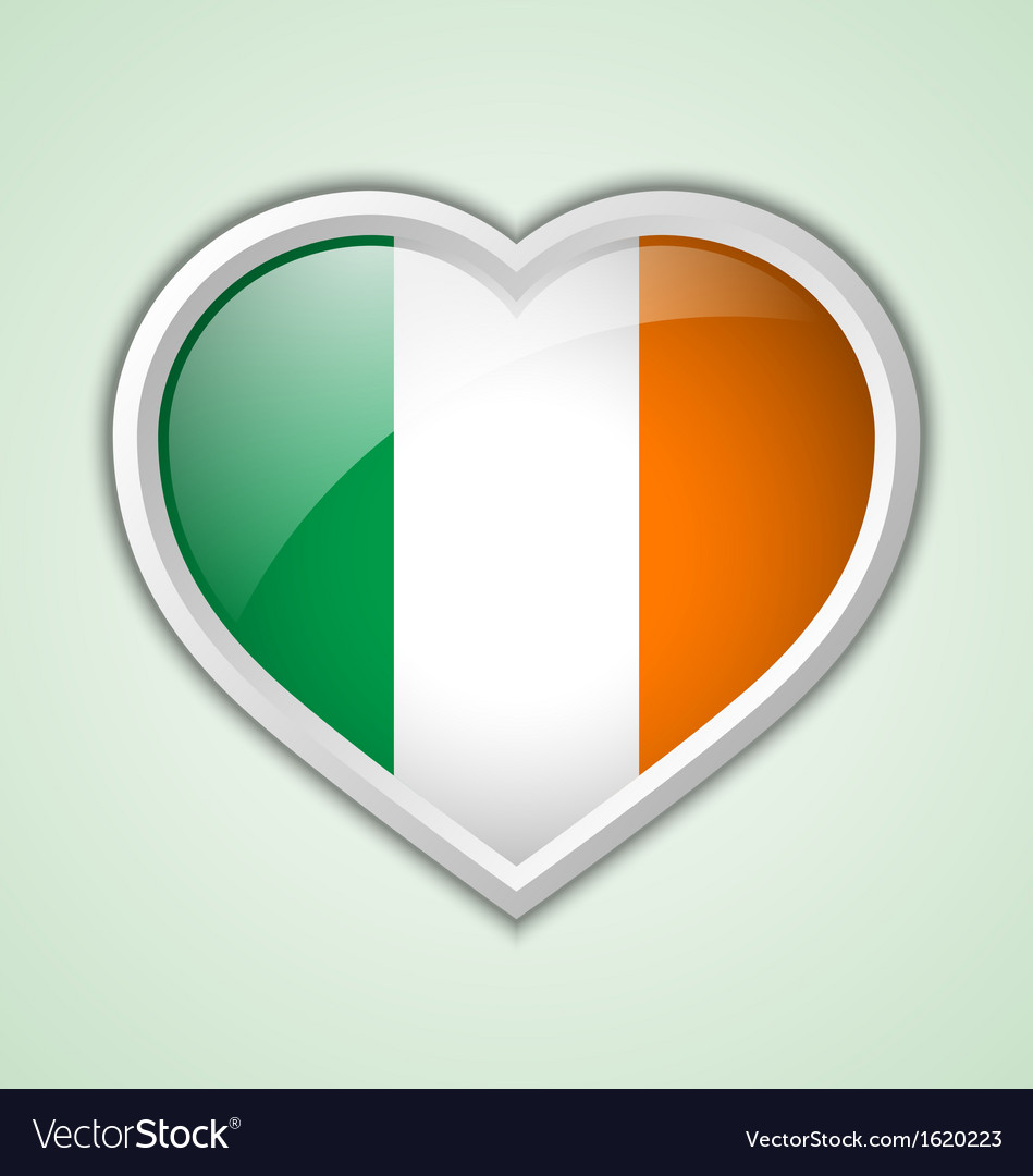 Irish heart icon vector | Price: 1 Credit (USD $1)