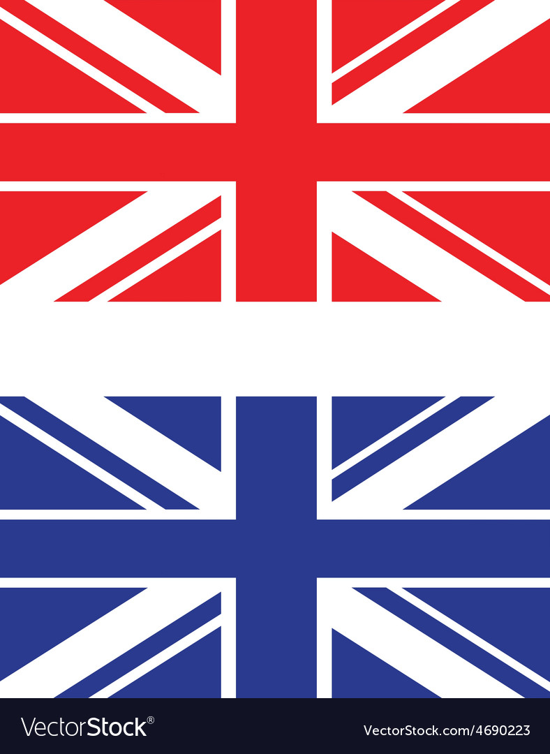 Red and blue uk flag vector | Price: 1 Credit (USD $1)