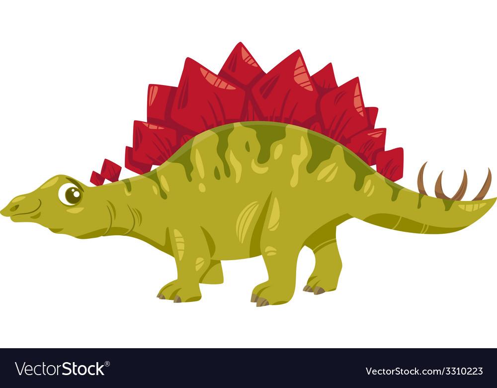 Stegosaurus dinosaur cartoon vector | Price: 1 Credit (USD $1)