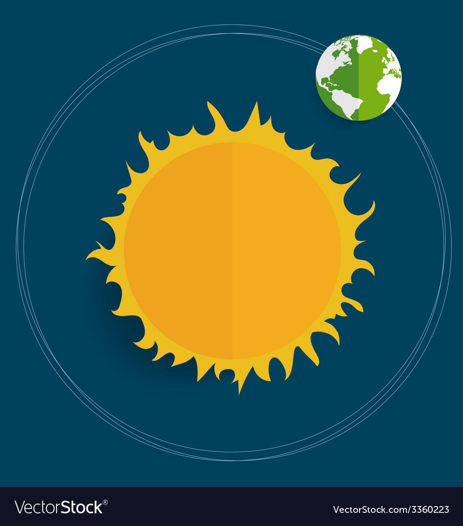 Sun and globe vector | Price: 1 Credit (USD $1)