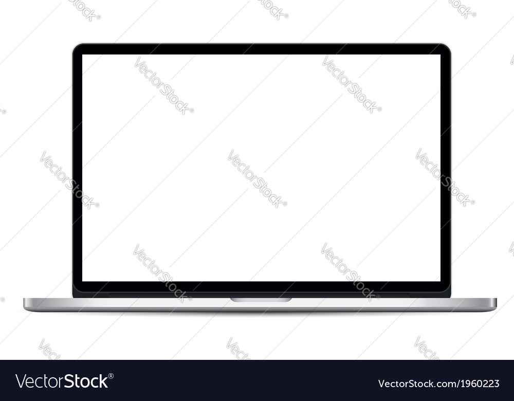 Thin laptop vector | Price: 1 Credit (USD $1)
