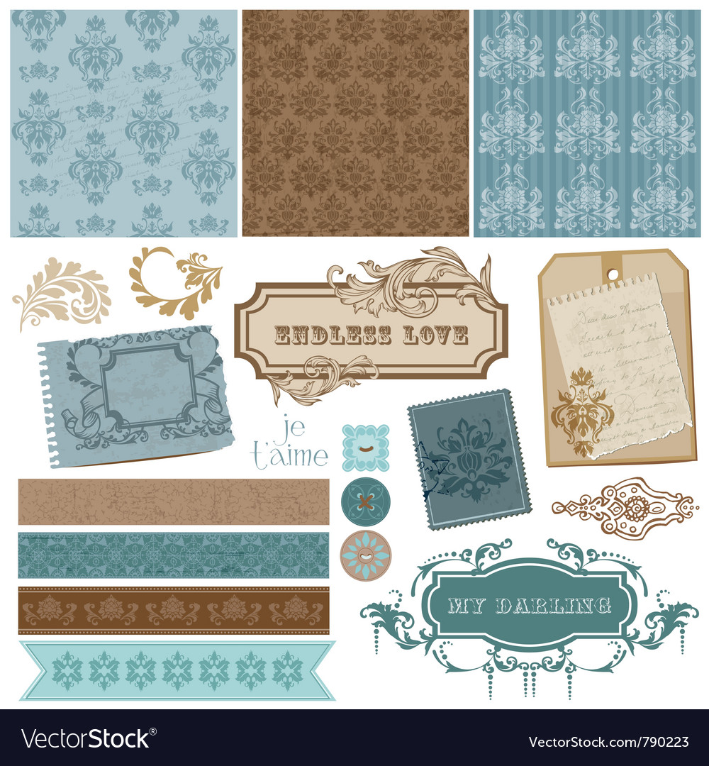 Vintage ornamental elements vector | Price: 1 Credit (USD $1)