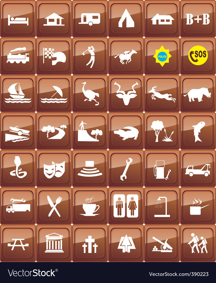 World signs vector | Price: 1 Credit (USD $1)